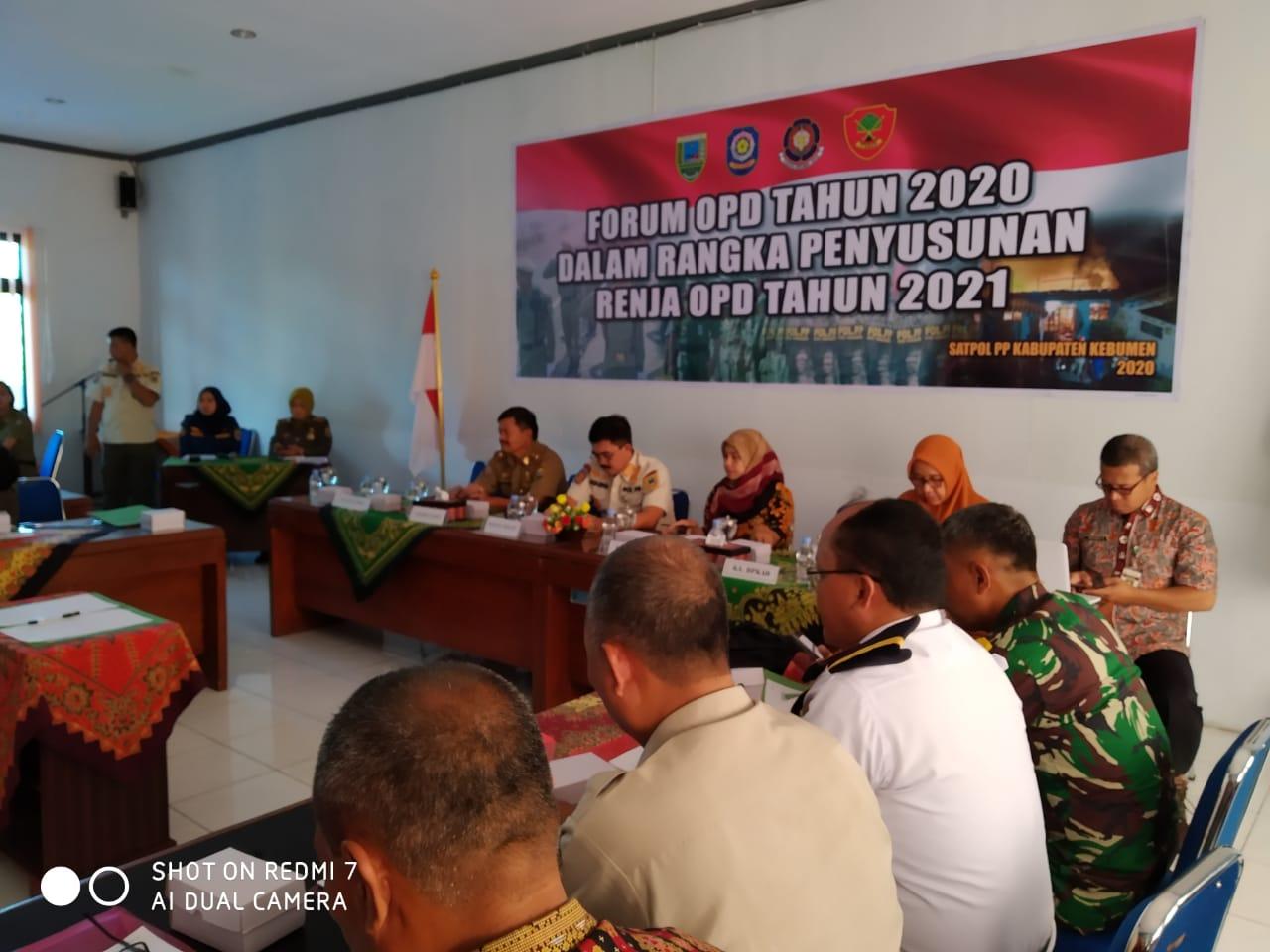 Forum OPD Satpol PP Kab. Kebumen Tahun 2020