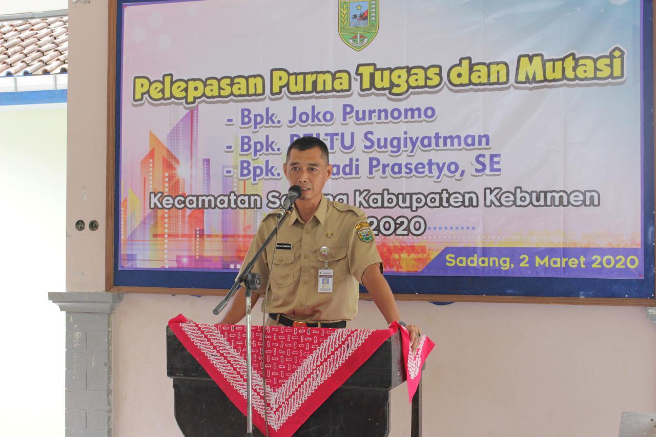 Pelepasan Purna Tugas dan Mutasi Pejabat di Kecamatan Sadang