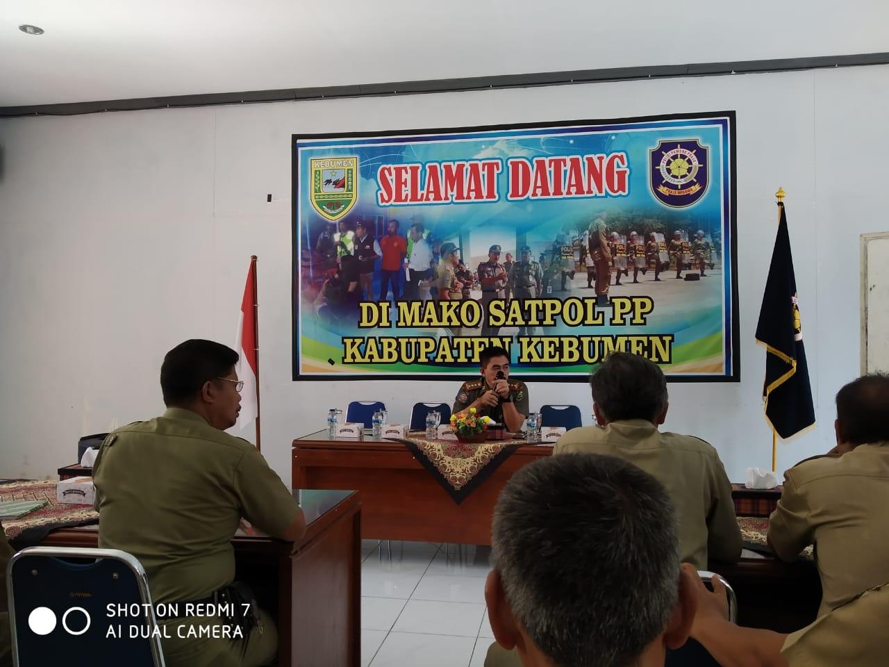 Musyawarah Kasi Trantib Se- Kabupaten Kebumen dan Ketertiban di Kecamatan